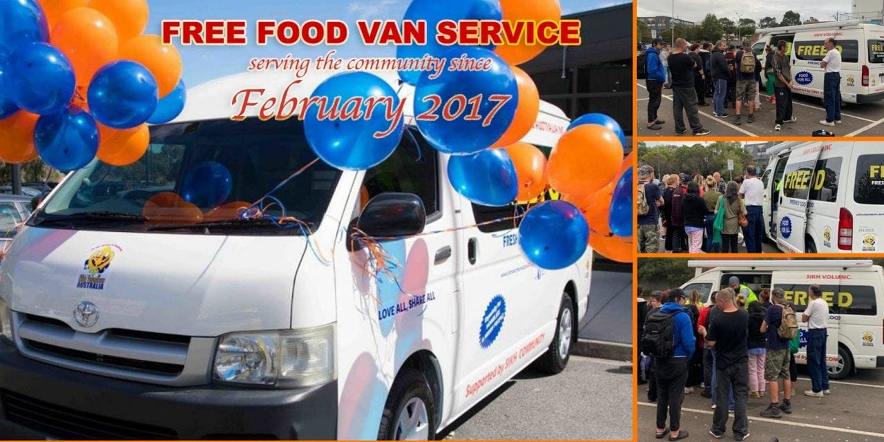 Launch of Free Food Van for the homeless and needy