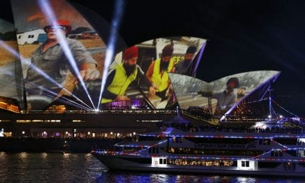 Sydney Opera House sails illuminate with image of Sikhs helping bushfire victims