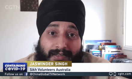 CGTN coverage of Sikh Volunteers Free Food Home Delivery Service